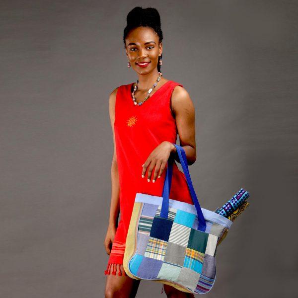 Kenya bag patch kikoy dress accessories