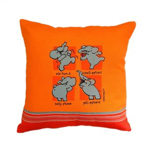 Cushion Cover for kids with Fun elephant Print