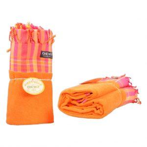 Kikoy Towel orange-striped