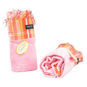 Kikoy Towel pink-striped